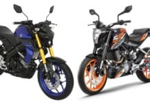 Yamaha MT-15 Vs KTM Duke 125
