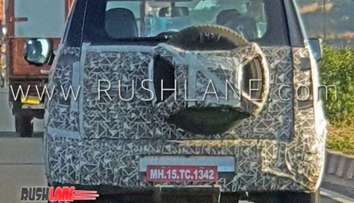 mahindra tuv 300 facelift rear image