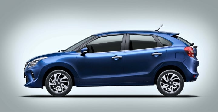 maruti baleno facelift side image