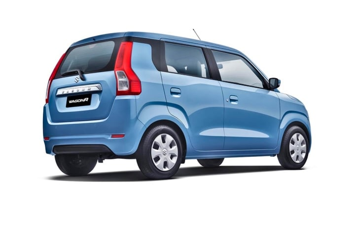 maruti wagon r rear three quaters image