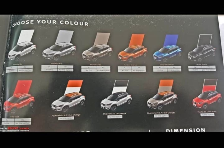 nissan kicks colours image