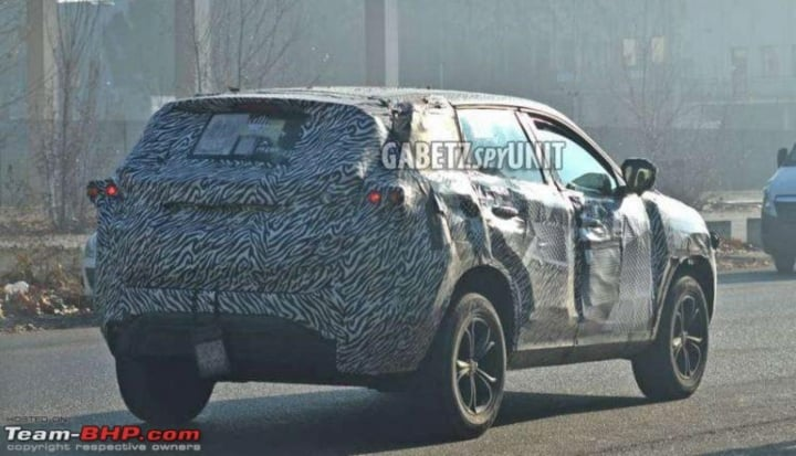 tata harrier spy rear image