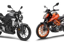 Honda CB300R Vs KTM Duke 390