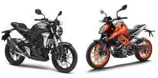 Honda CB300R Vs KTM Duke 390