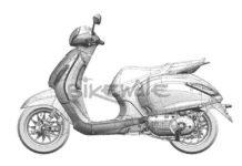 New Bajaj Scooter Sketch 1