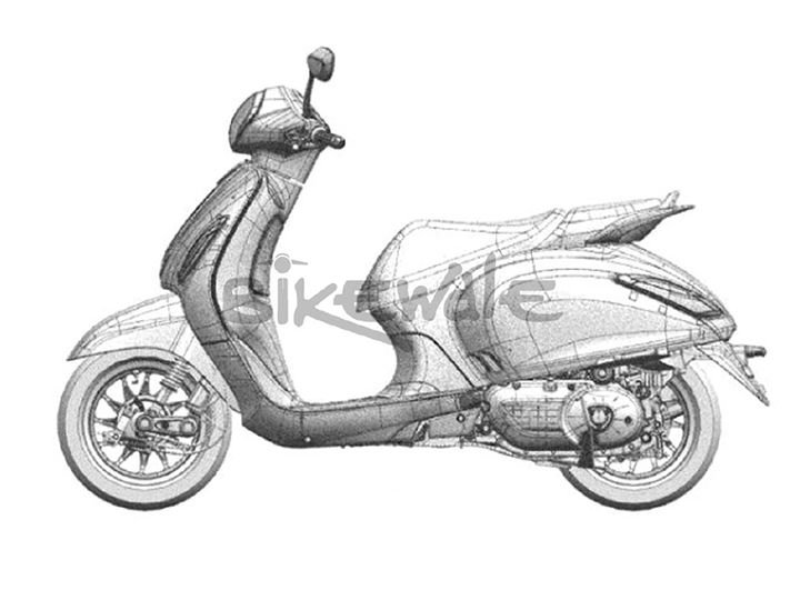 New Bajaj Scooter Sketch 1