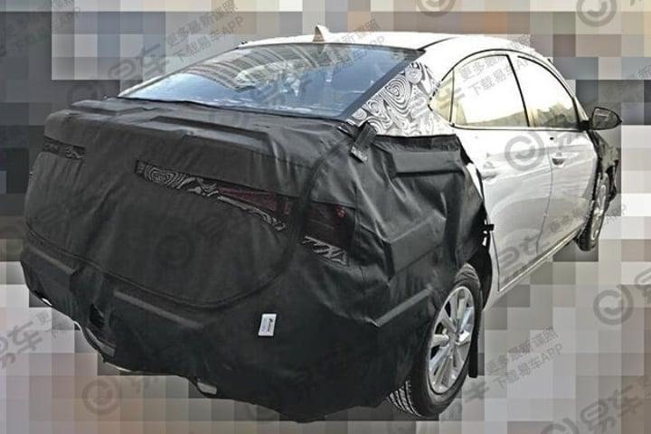 hyundai verna facelift rear image