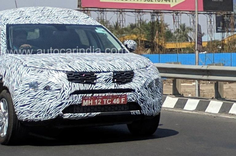 Tata Harrier seven-seater variant spied testing in India- New details emerge