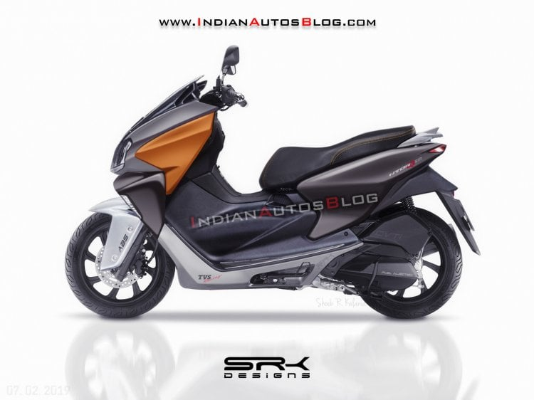 Check out this sporty rendering of TVS Ntorq 150 scooter!