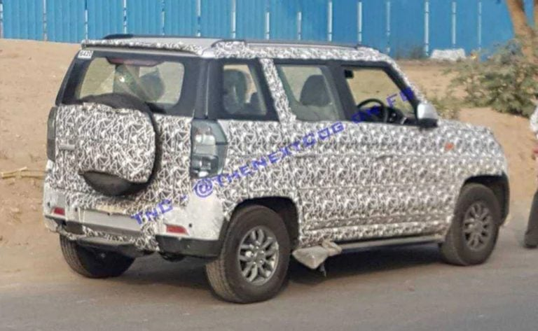 Mahindra TUV300 spotted testing; to be updated with more safety features