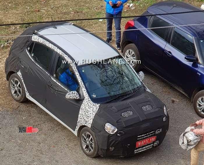 2019 Hyundai Grand i10 spotted testing in India yet again