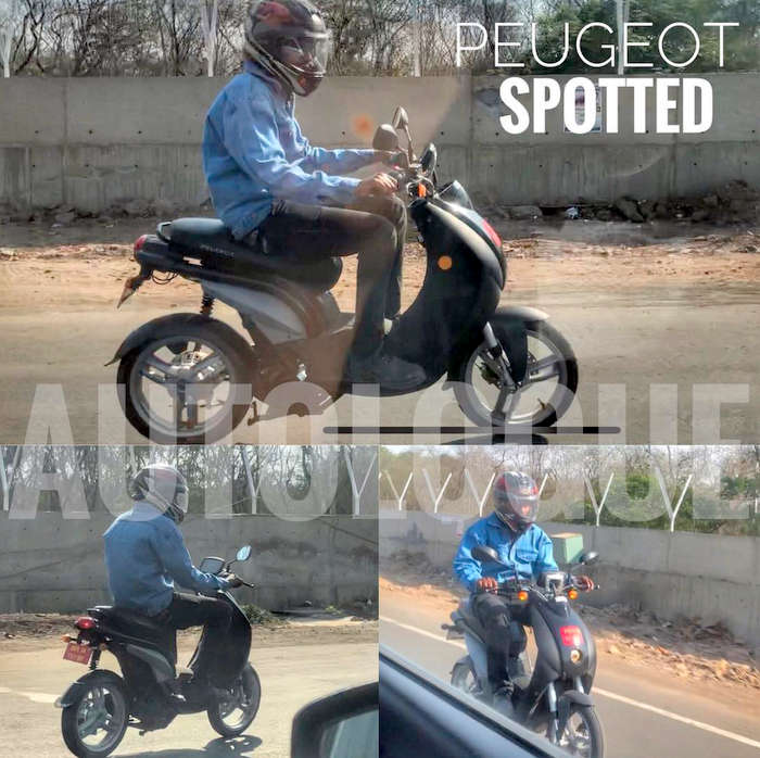 Peugeot E-Ludix electric scooter spotted testing on Indian roads