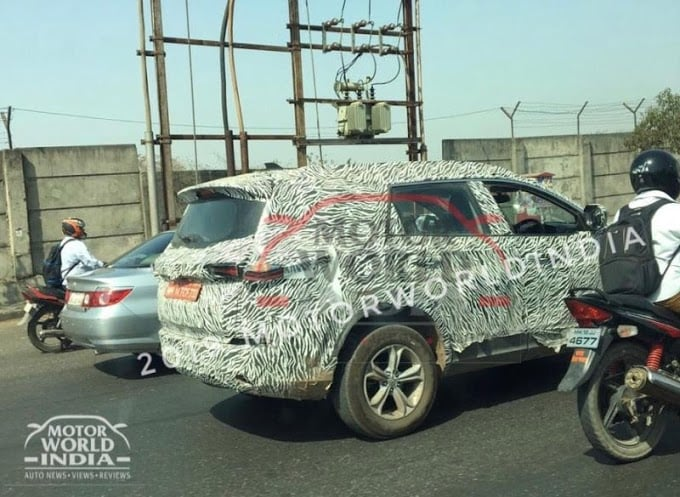 tata harrier spy shot front image