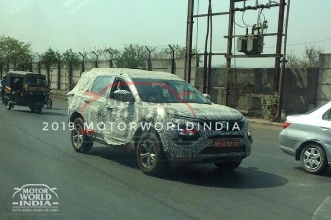 tata harrier spy shot rear image