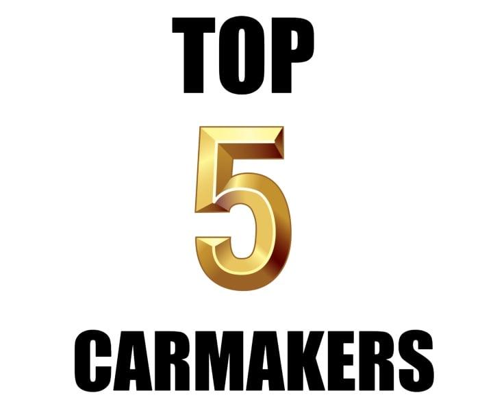top five carmakers feb'19 image