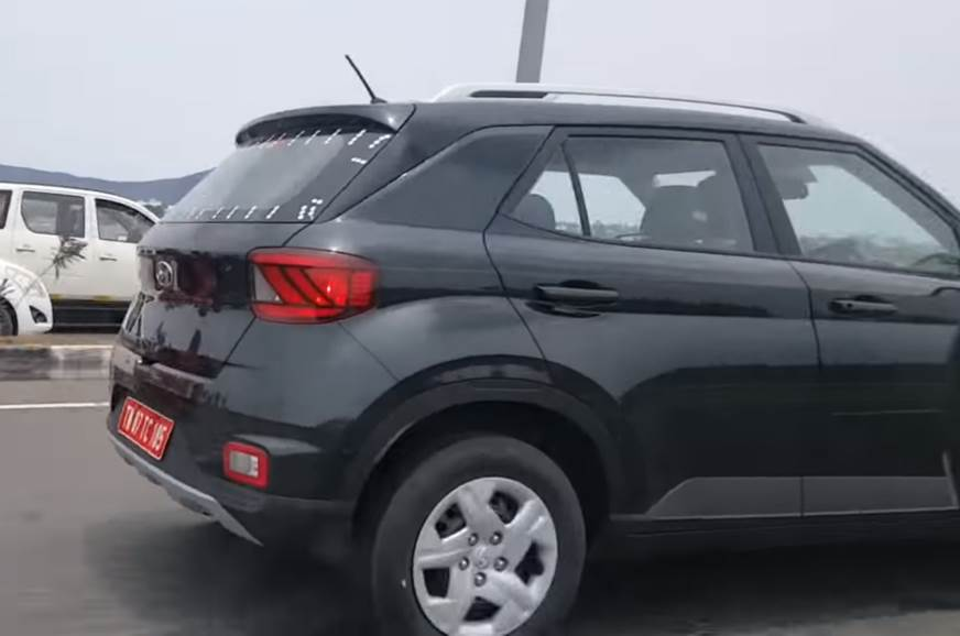 Hyundai Venue base variant rear profile