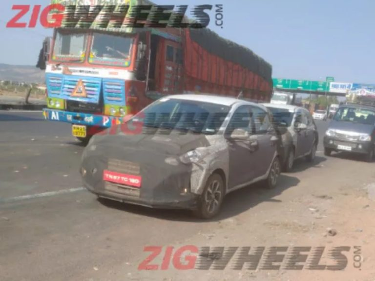 Next-Generation Hyundai Grand i10 automatic spotted testing