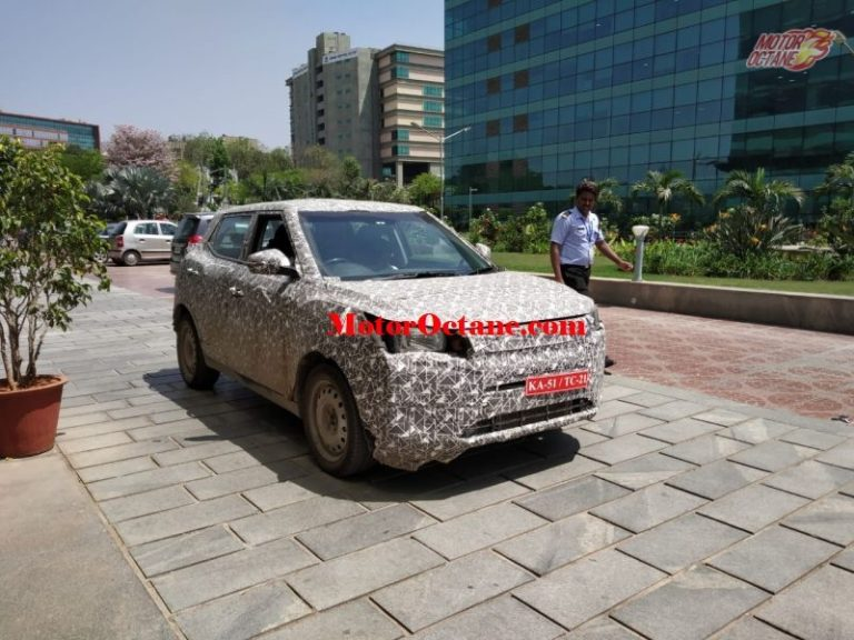 Mahindra XUV300 electric spied testing in India- Images