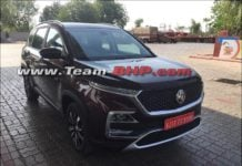mg hector front look