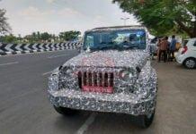 new mahindra thar front image