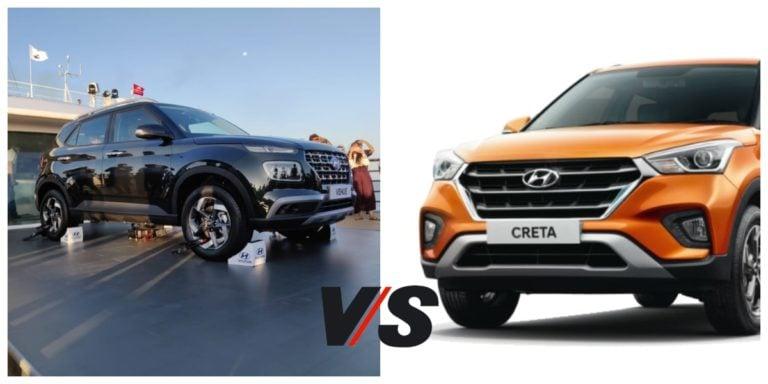 Hyundai Venue Vs Hyundai Creta- Specification Comparison