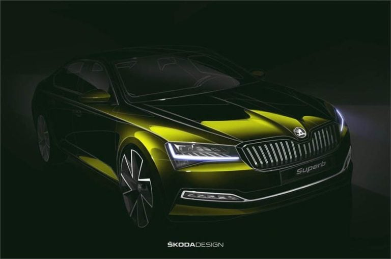 2019 Skoda Superb facelift; official look teased