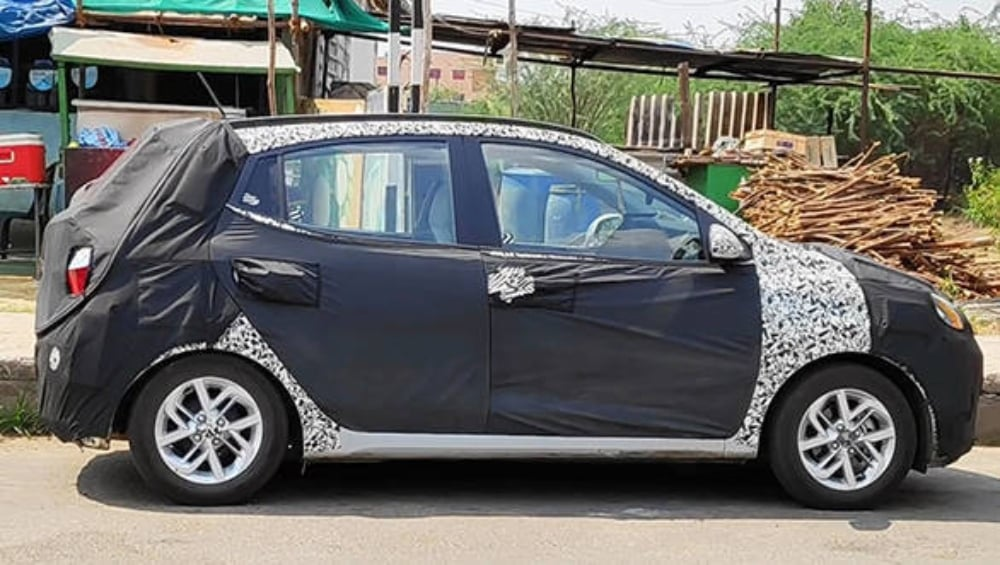 Next-gen Hyundai Grand i10 spotted testing