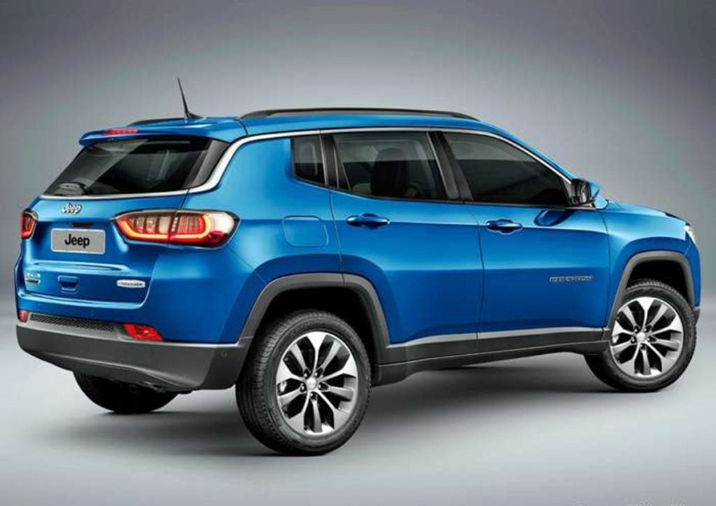 Jeep Compass facelift Rendering Rear
