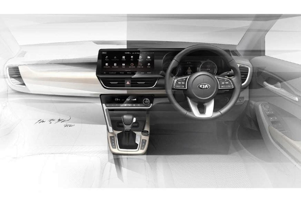Kia SP interior sketches