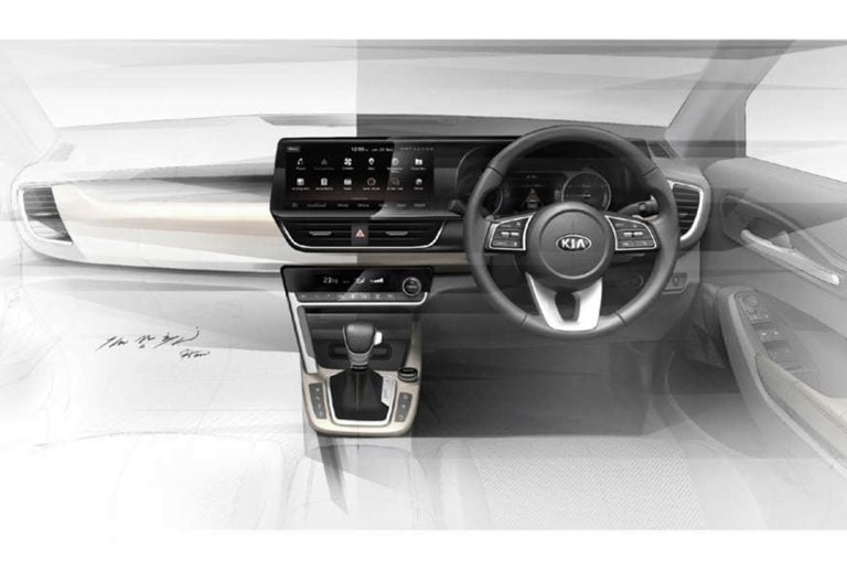 Kia SP Interior Sketches Revealed for the First Time