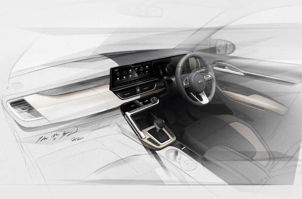 Kia SP interior sketches