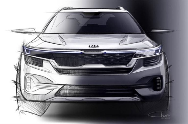 Kia reveals first Skteches of the upcoming SP SUV