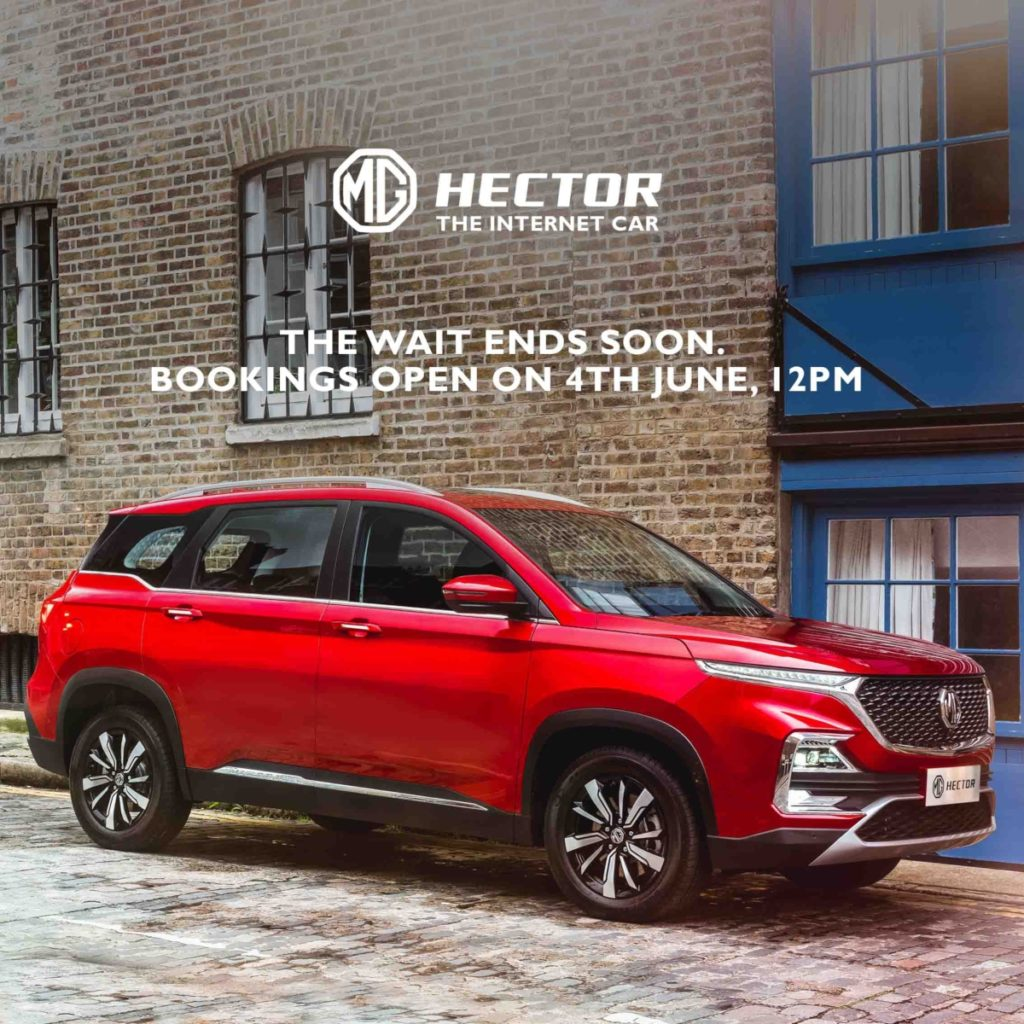 MG Hector bookings image