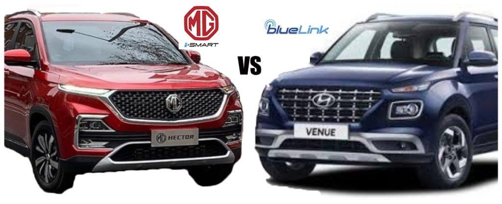 MG Hector VS Hyundai Venus Smart Features Comparison