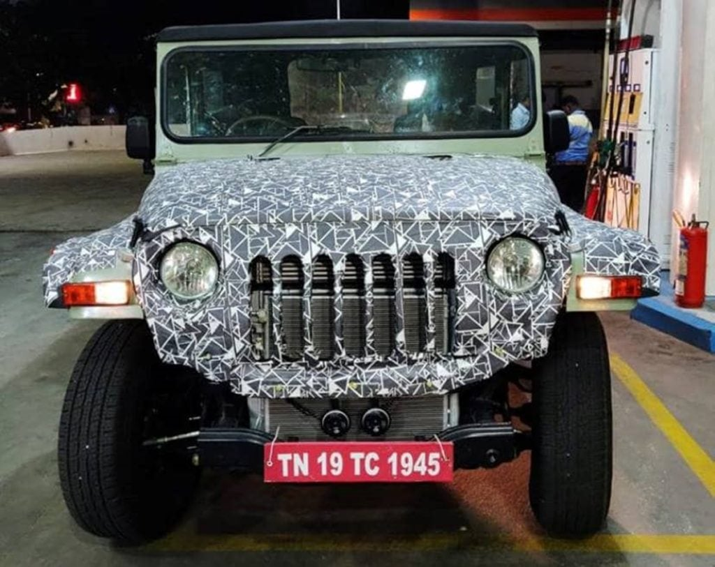 Next-gen Mahindra Thar spotted testing