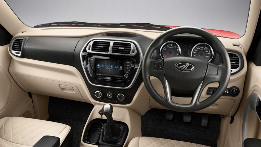 Interiors of the Facelifted Mahindra TUV300
