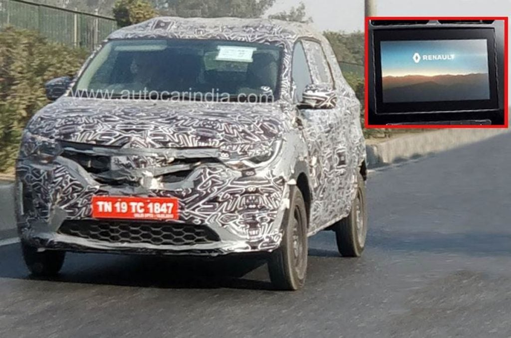 Spied Renault Triber with larger touchscreen