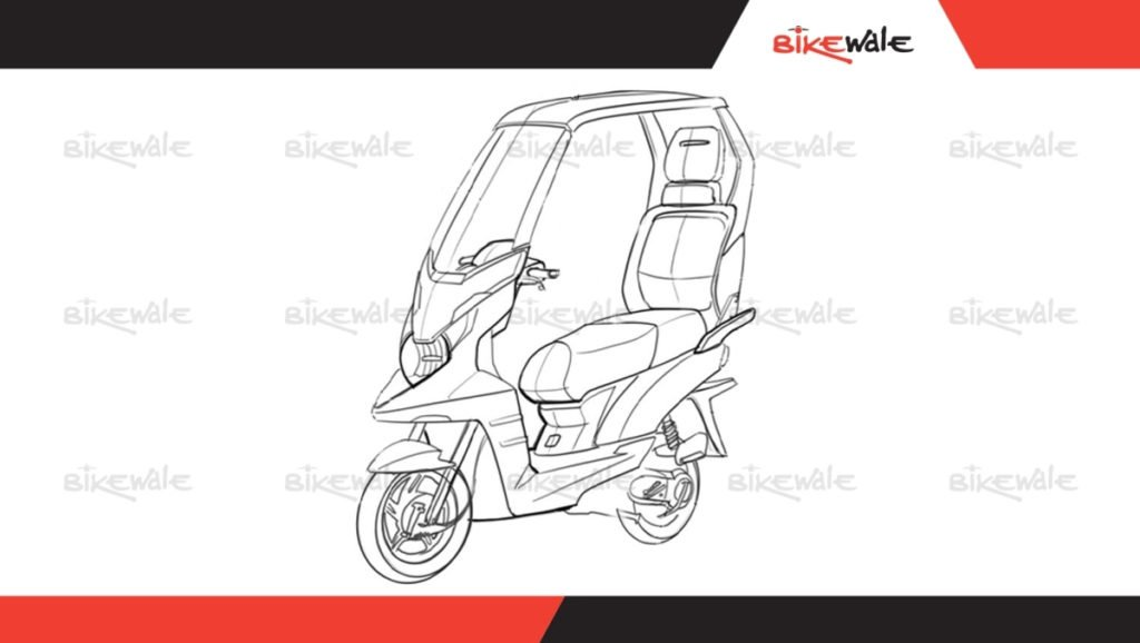TVS solar powered electric scooter concept
