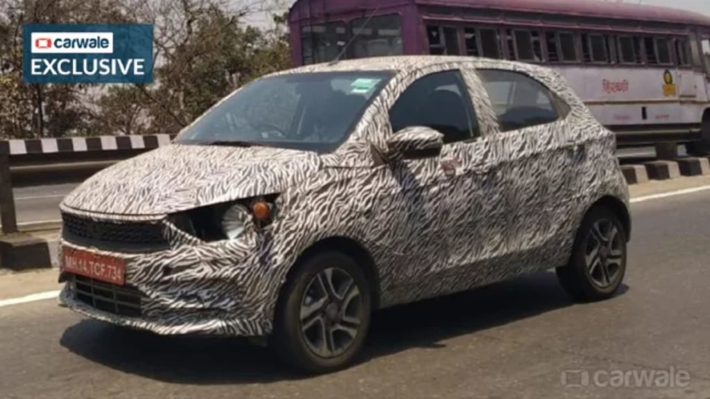 Tata Tiago Facelift spotted earlier