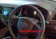 Toyota Glanza steering wheel image