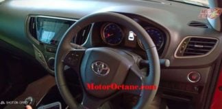 Toyota Glanza steering wheel image