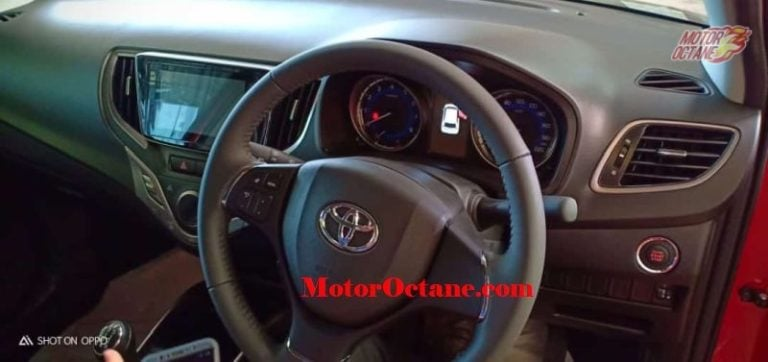 Toyota Glanza reaches dealerships; interiors spotted