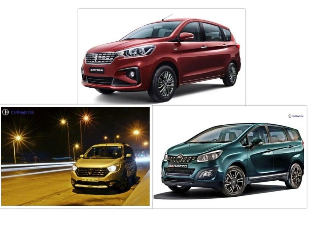 Maruti Ertiga VS Mahindra Marazzo VS Renault Lodgy