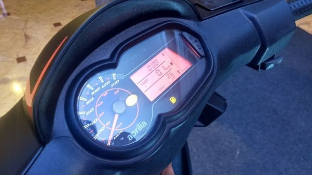 Aprilia SR150 to be updated with Bluetooth Speedometer console
