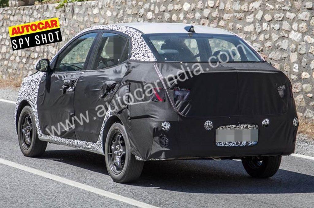 Second-gen Hyundai Xcent rear profile