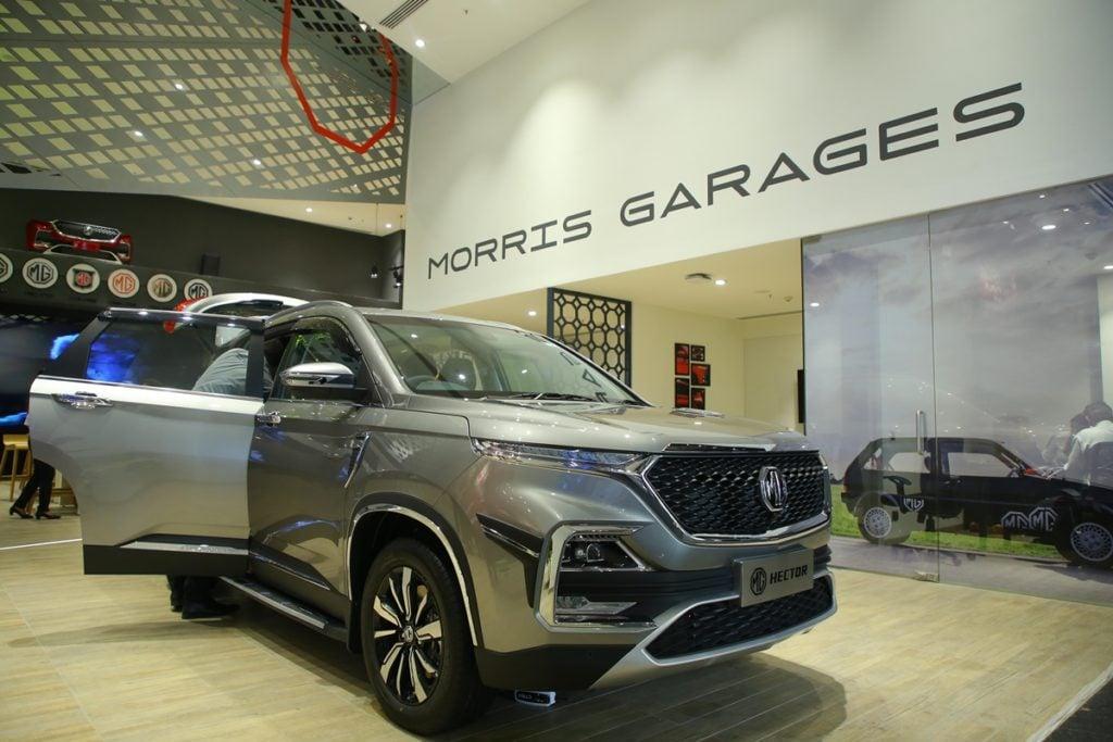 MG Motors Experience Center in Gurgaon - Interior
