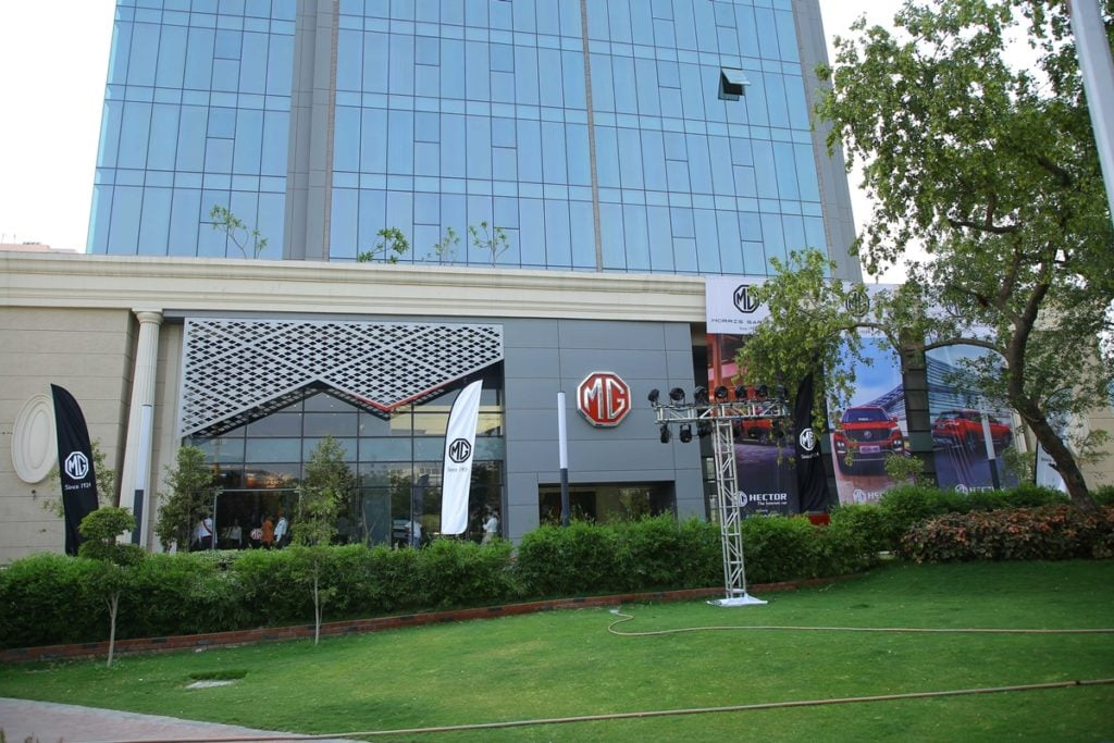 MG Motors Experience Center in Gurgaon