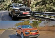 MG Hector vs Tata Harrier image