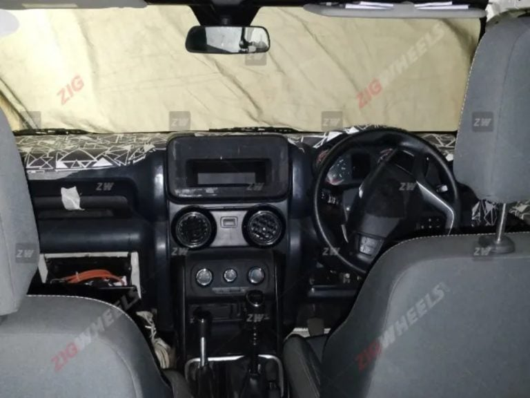 New Mahindra Thar Interiors Spied – Gets Power Windows And New Dashboard Design