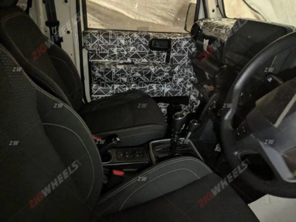 New Mahindra Thar Interiors image1